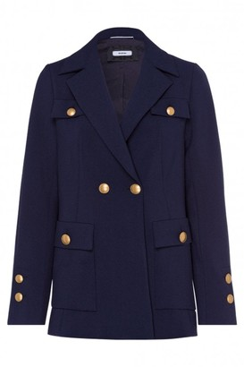 Riani Deep Blue Military Long Blazer - 8