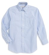 Nordstrom Boy's Railroad Stripe Dress Shirt