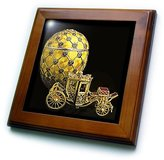 Faberge 3dRose LLC ft_568_1 Eggs - Picturing Egg Coronation - Framed Tiles