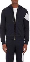 Moncler Gamme Bleu Men's Stripe-Detail Cotton Zip-Front Hoodie