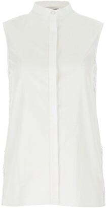 Alexander McQueen Lace Sleeveless Shirt