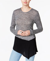 Bar III Asymmetrical Colorblocked Sweater, Only at Macy's