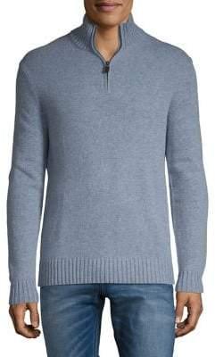 Black & Brown Black Brown Luxe Lambswool Blend Half-Zip Sweater