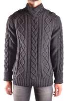 Stone Island Men's Black Wool Sweater.