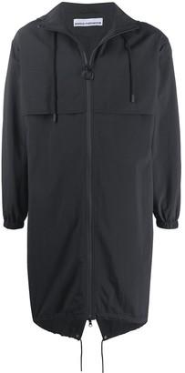Paco Rabanne zip-through hooded parka