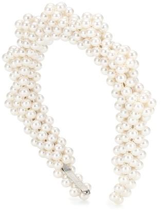 Shrimps Bronco faux-pearl headband