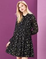 Yumi Foil Printed Shift Dress