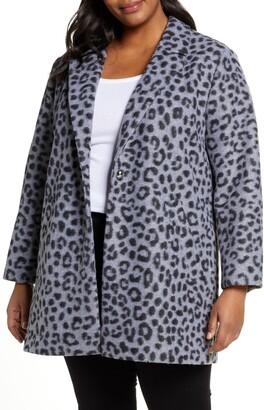 MICHAEL Michael Kors Cheetah Brushed Jacquard Coat