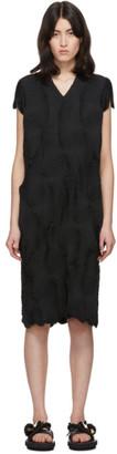 Issey Miyake Black Swirl Stretch Dress
