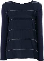 Le Tricot Perugia striped knit top - women - Spandex/Elastane/Viscose - S