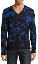 Versace Camo Texture Ribbed Pullover