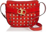 Tory Burch Gemini Link Cutout Small Suede Shoulder Bag