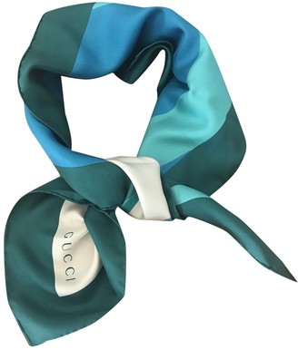 Gucci Turquoise Silk Scarves