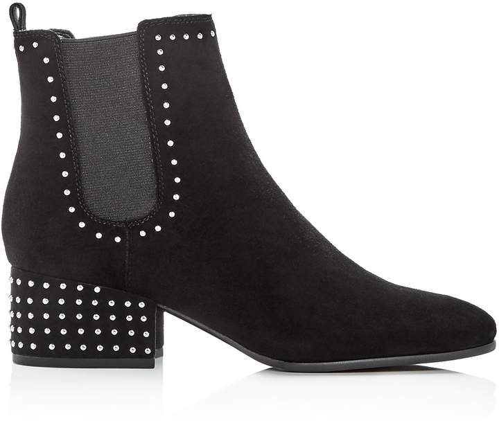 Marc Fisher Women's Tango Studded Suede Block Heel Booties