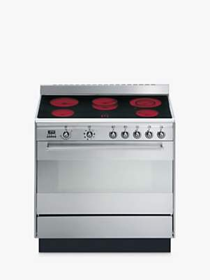 Smeg SUK91CMX9 Concert Range Cooker With Ceramic Hob, Stainless Steel