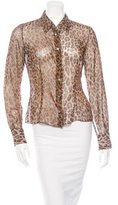 Dolce & Gabbana Leopard Print Button-Up Top