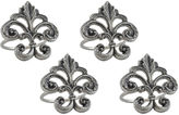 DESIGN IMPORTS Design Imports Fleur De Lis Set of 4 Brass Napkin Rings