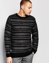 NATIVE YOUTH Wool Jaquard Knit Sweater