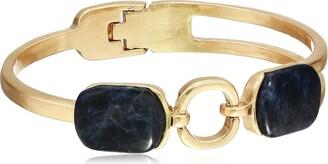 Danielle Nicole Women's Amulet Hinge Cuff Bracelet Worn Gold/Blue One Size