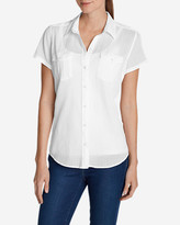 Eddie Bauer Women's Packable Short-Sleeve Shirt - Solid