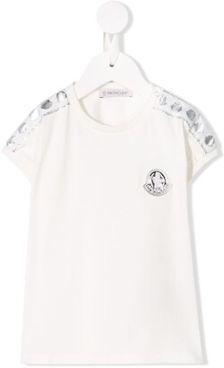 Moncler Enfant monogram-logo T-shirt
