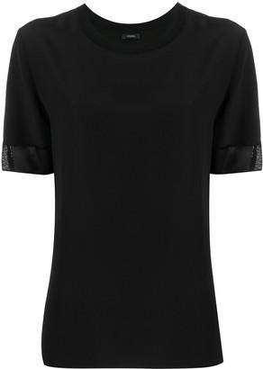 Joseph lightweight semi-sheer trim T-shirt