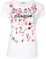 Dondup floral embroidery T-shirt