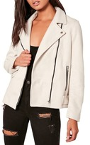 Missguided Faux Suede Moto Jacket