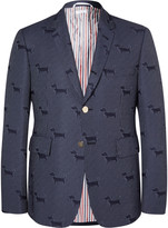 Thom Browne - Navy Hector Woven Blazer