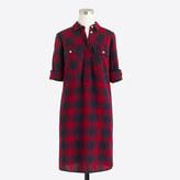 J.Crew Factory Petite flannel shirtdress