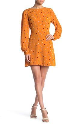 Lush Polka Dot Tie Back Dress