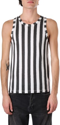 Saint Laurent Striped Tank Top In Ribbed Jersey