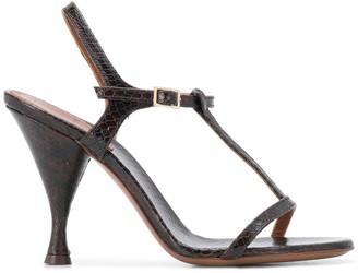 L'Autre Chose Snakeskin Effect 105mm Sandals