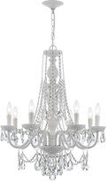 Swarovski Crystorama Envogue 8-Light White Crystal Chandelier