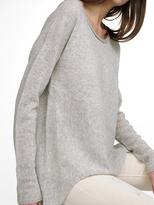 White + Warren Cashmere Hi Lo Asymmetrical Pullover