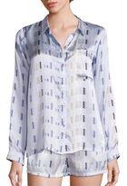 Asceno Arctic Crescent Silk Pajama Top