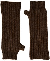 Marni Zip Detailed Wool English Rib Fingerless Mitten Scarves