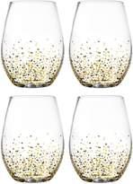 Jay Import Confetti Stemless Wine Glasses - Set of 4