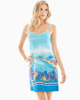 Soma Intimates Racerback Sleep Chemise Panorama Beach Blue Sea
