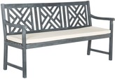 The Well Appointed House Classic Geometric Trellis Style Bradford 3 Seat Bench in Ash Grey Finish - CURRENTLY ON BACKORDER UNTIL MID FEBRUARY 2017