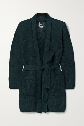 Max Mara Leisure Belted Mohair-blend Cardigan - Emerald