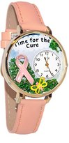 Whimsical Watches Women's G1110001 Time for the Cure Pink Leather Watch