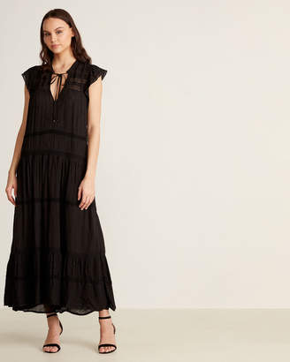 Free People Lace Insert Dot Maxi Dress