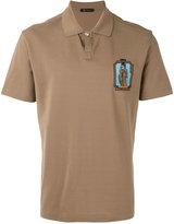 Versace patch detail polo shirt - men - Cotton - S