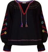 Ulla Johnson Midnight Embroidered Vania Blouse