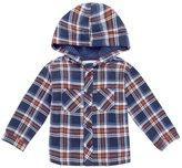 Jo-Jo JoJo Maman Bebe Hooded Shirt (Toddler/Kid) - Navy Check-2-3 Years