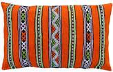 One Kings Lane Vintage Orange Striped Moroccan Berber Pillow
