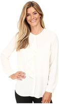 Vince Camuto Long Sleeve Ruffle Front Blouse