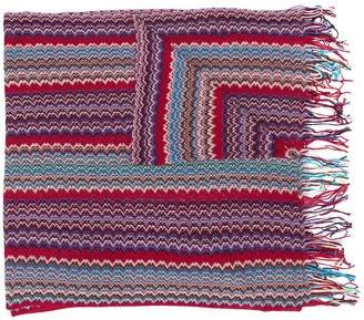 Missoni Woven Style Frayed Edge Scarf