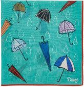 Drakes Drake's Men's Umbrella-Print Pocket Square-GREEN